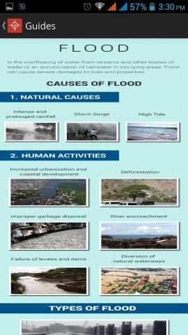 Flood guides